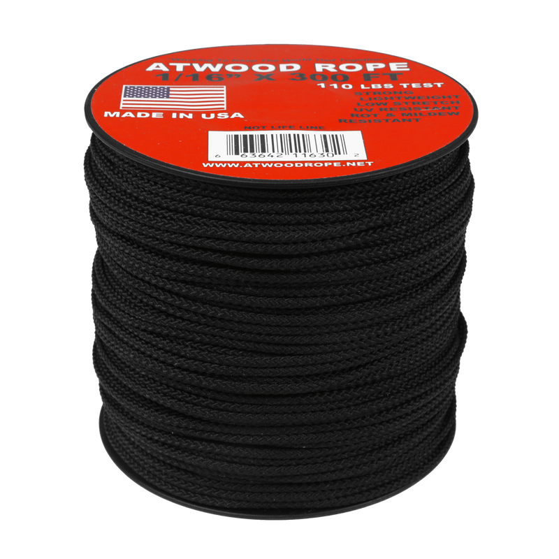 Atwood Utility Rope 1//2-100ft in Black