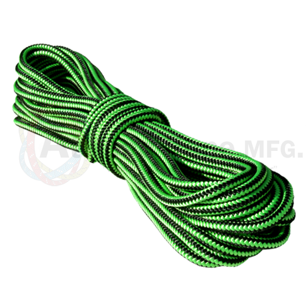 1/2 x 150ft Arborist Tree Line Neon Green w/ Black Stripes