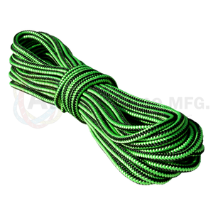 1/2 x 150ft Arborist Rope - Neon Green w/ Black Stripes