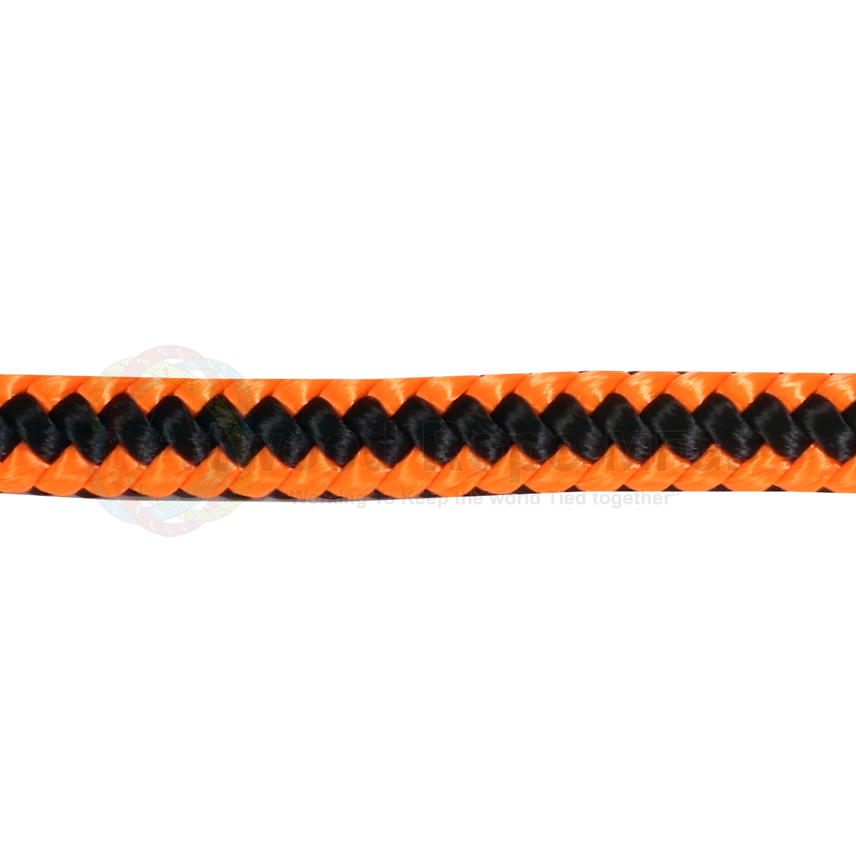 5/8 x 150ft Arborist Tree Line - Neon Orange & Black