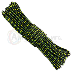 1/2 x 150ft Arborist Rope - Dark Teal Black Neon Yellow & Neon Green
