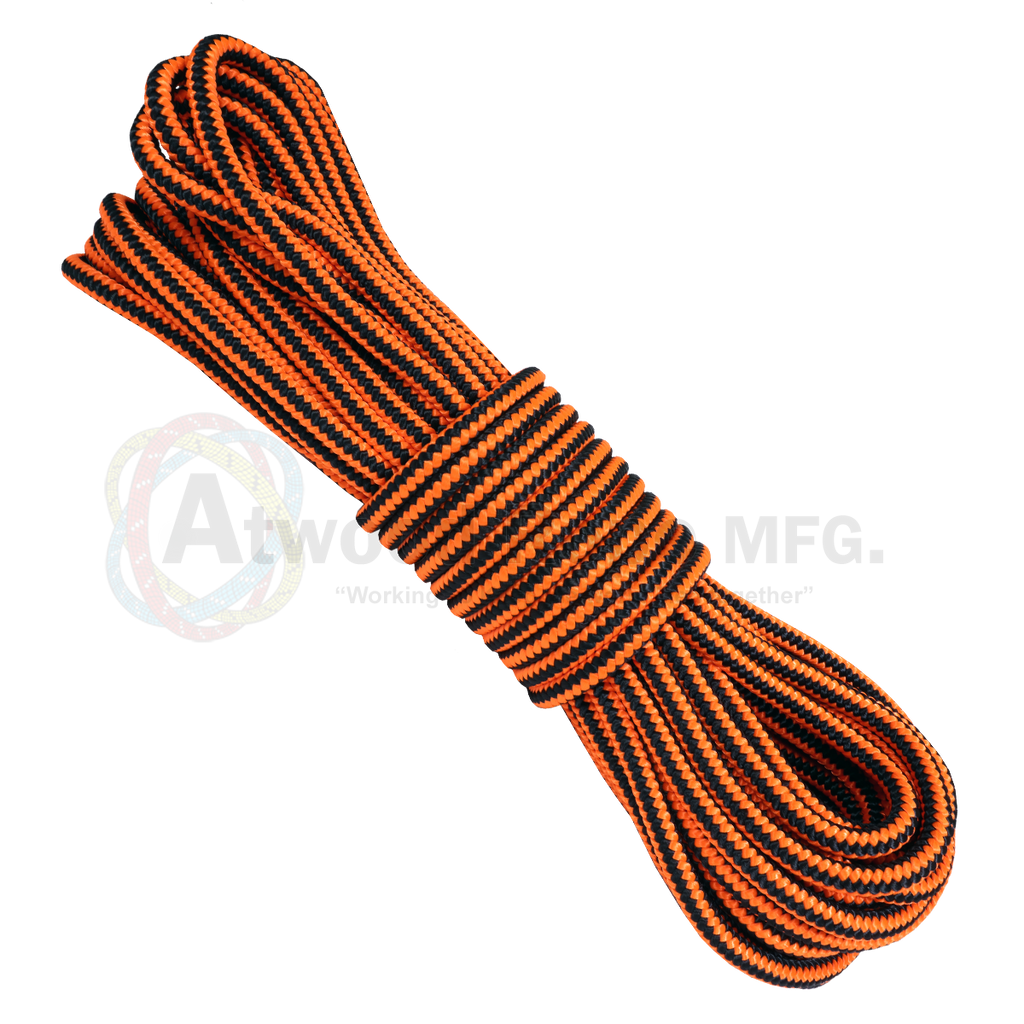 "1/2"" Arborist Rope - Neon Orange & Black"
