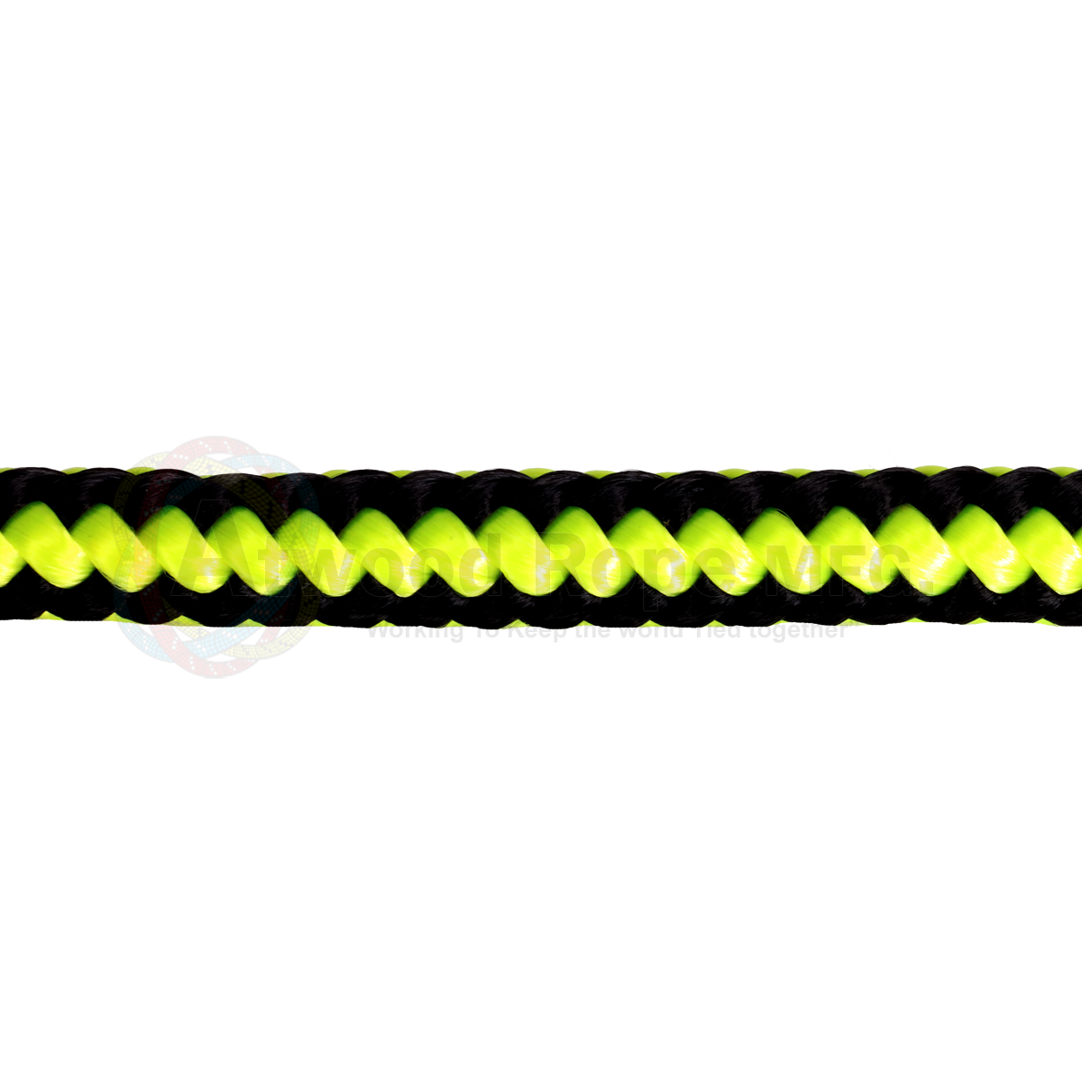 1/2 x 150ft Arborist Rope - Neon Yellow & Black