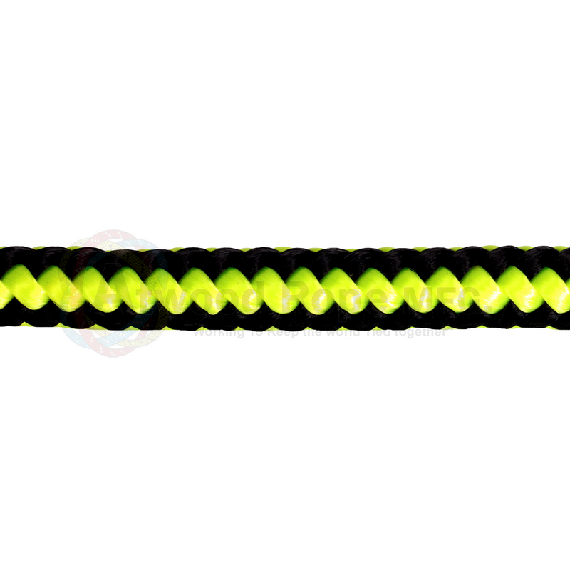 1/2 Arborist Rope - Neon Yellow & Black
