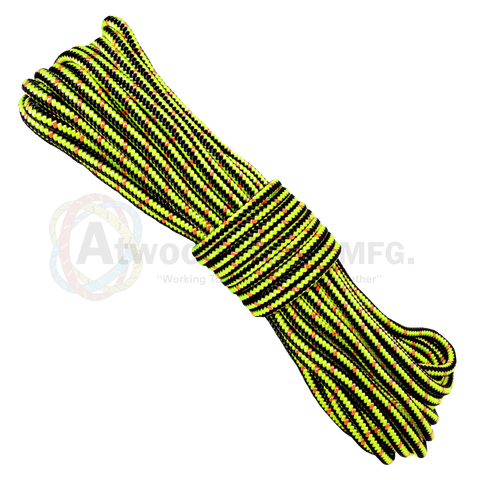 1/2 x 150ft Arborist Rope - Neon Yellow Black & Neon Orange