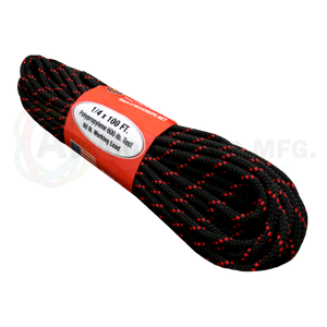 1/4 x 100ft - Black w/ Red Tracer