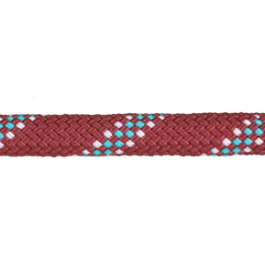 3/8 Maroon w/ Teal & White Tracer Rope Leash