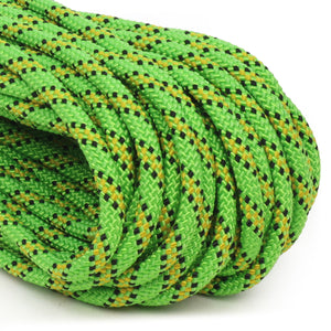 Polyester 1/4 x 100ft - Neon Green w/ Black & Yellow Tracer