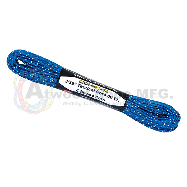 3/32 x 50ft Tactical Reflective - Blue