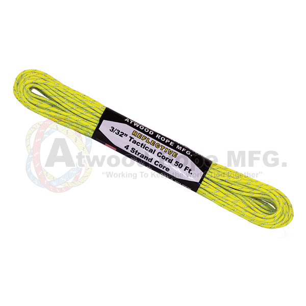 3/32 x 50ft Tactical Reflective - Neon Yellow