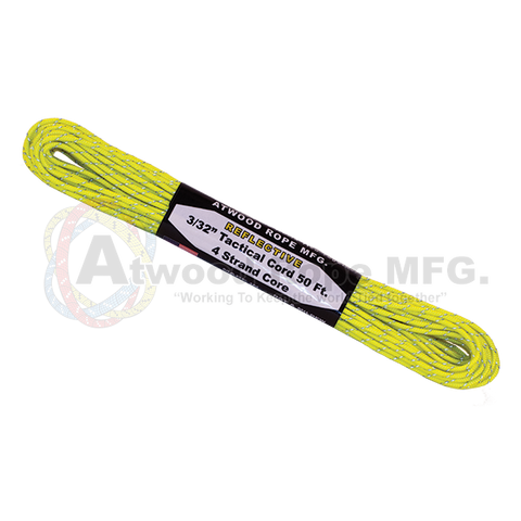 3/32 x 50ft Tactical Reflective Neon Yellow