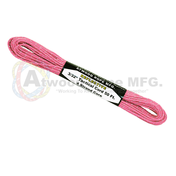3/32 x 50ft Tactical Reflective - Pink