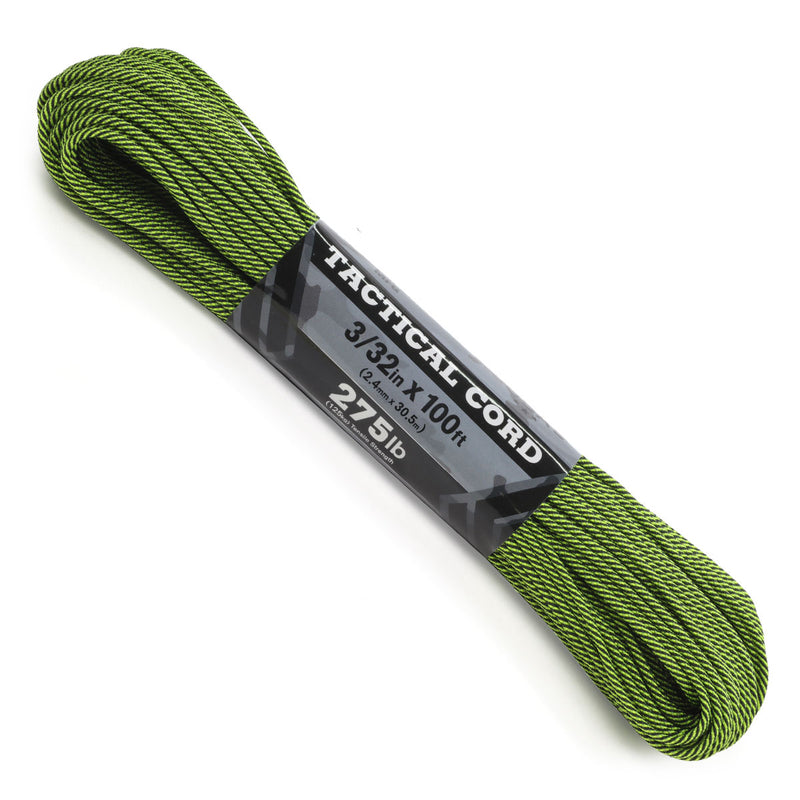 275 Cord 3/32 Tactical - Neon Yellow & Black Stripes