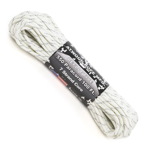 550 Paracord Reflective - White