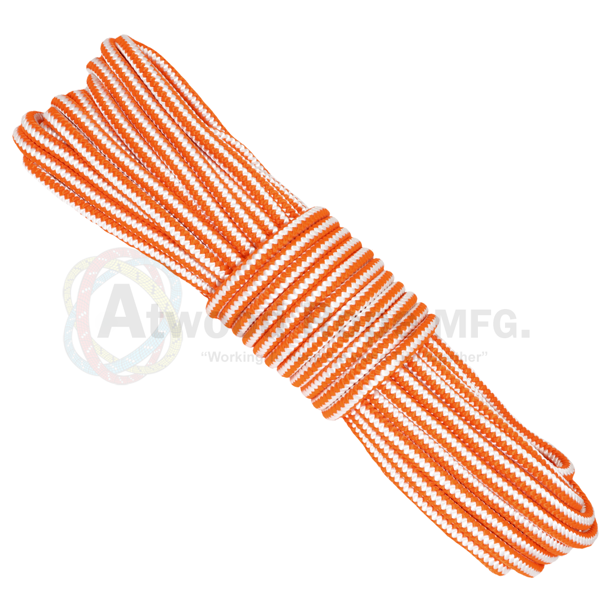 5/8 x 150ft Arborist Tree Line - Neon Orange & White