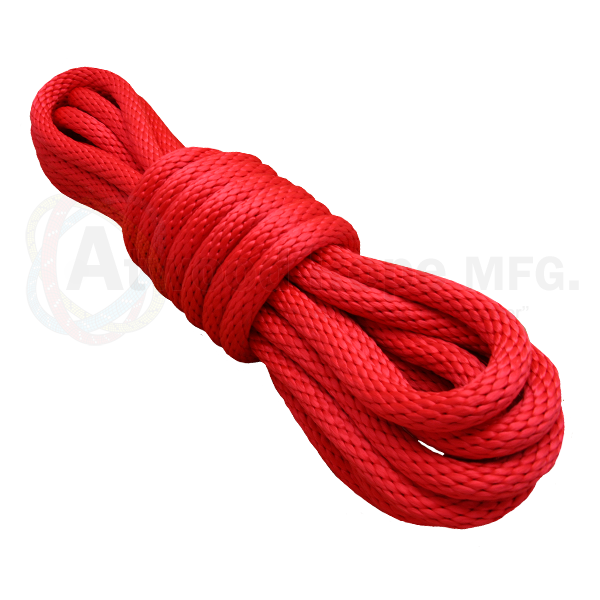 5/8 x 25ft Solid Braid Derby Line Red