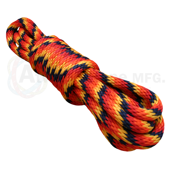 5/8 x 25ft Solid Braid Derby Line - Fireball