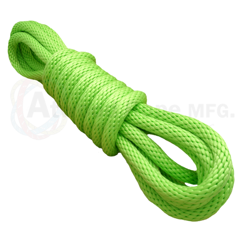 5/8 x 25ft Solid Braid Derby Line Neon Green