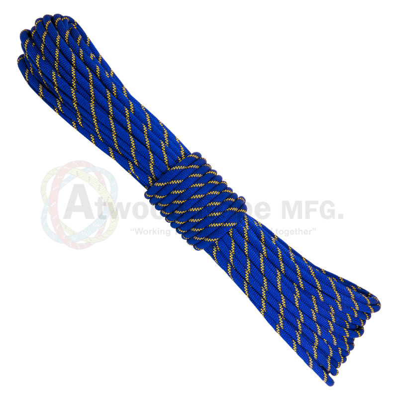 7/16 x 150ft Static Rappelling - Blue Yellow & Black
