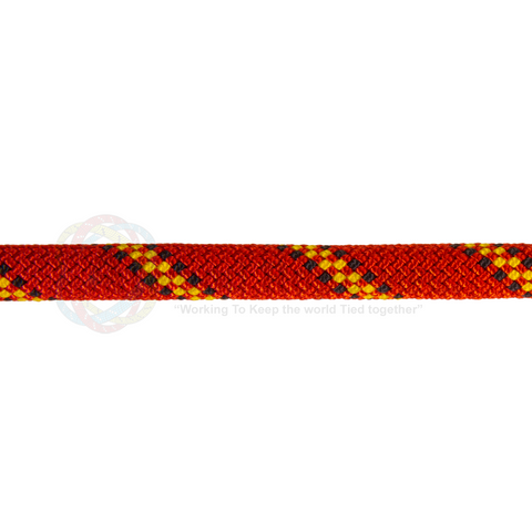 7/16 x 150ft Static Rappelling - Red Yellow & Black