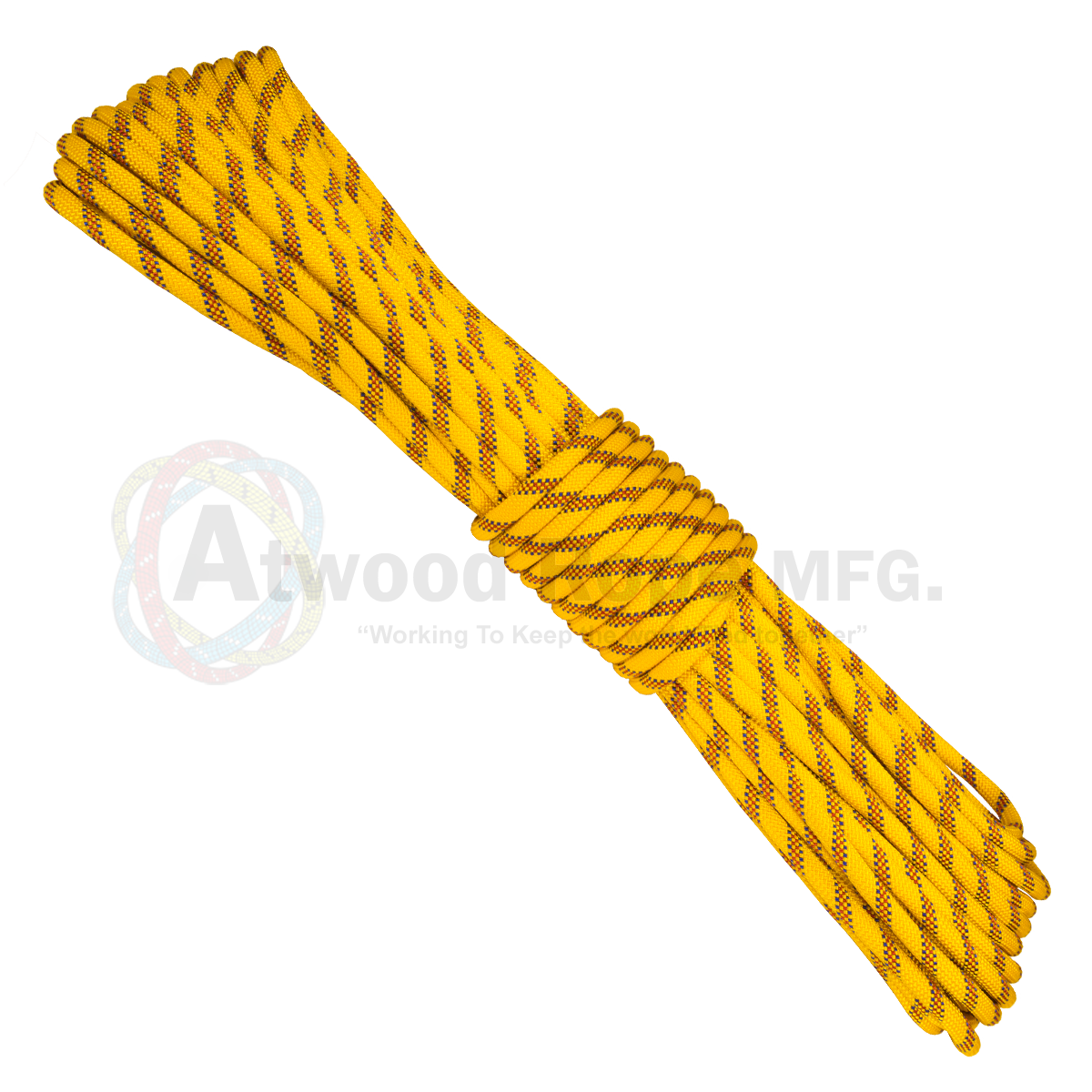 7/16 x 150ft Static Rappelling - Yellow Blue & Red