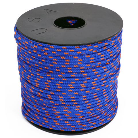 Arborist Throw Line - Blue w/ Neon Orange Tracer