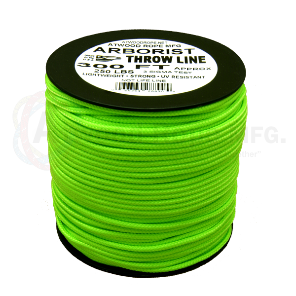 Arborist Throw Line Neon Green