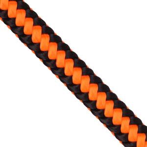 1-2-x-150ft-arborist-rope-neon-orange-black