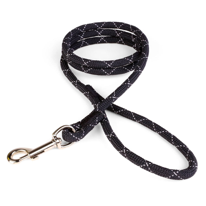 3/8 Black Reflective Rope Leash