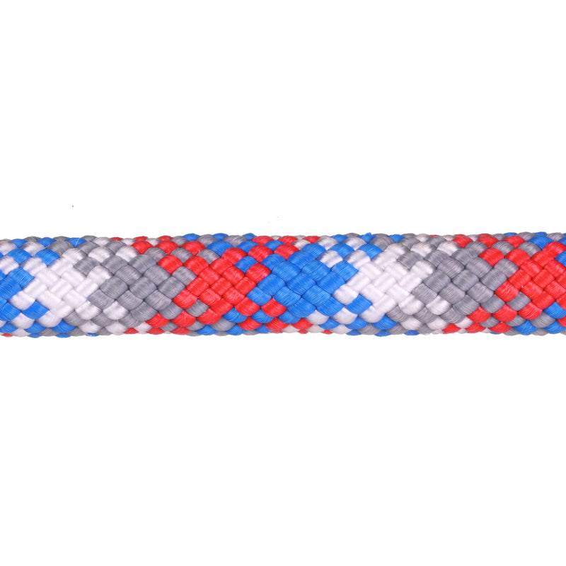 3/8 Red, White, Blue & Grey Snake Rope Leash