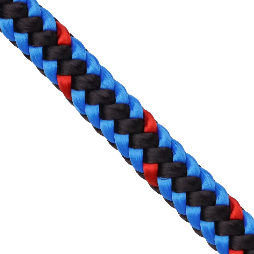 "1/2"" Arborist Rope - Blue Black & Red"