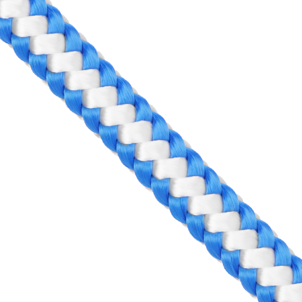 "1/2"" Arborist Rope - White & Blue"