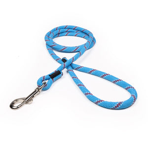 3/8 Carolina Blue w/ Maroon & White Tracer Rope Leash