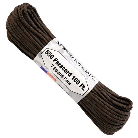 550 x 100ft Paracord - Chocolate