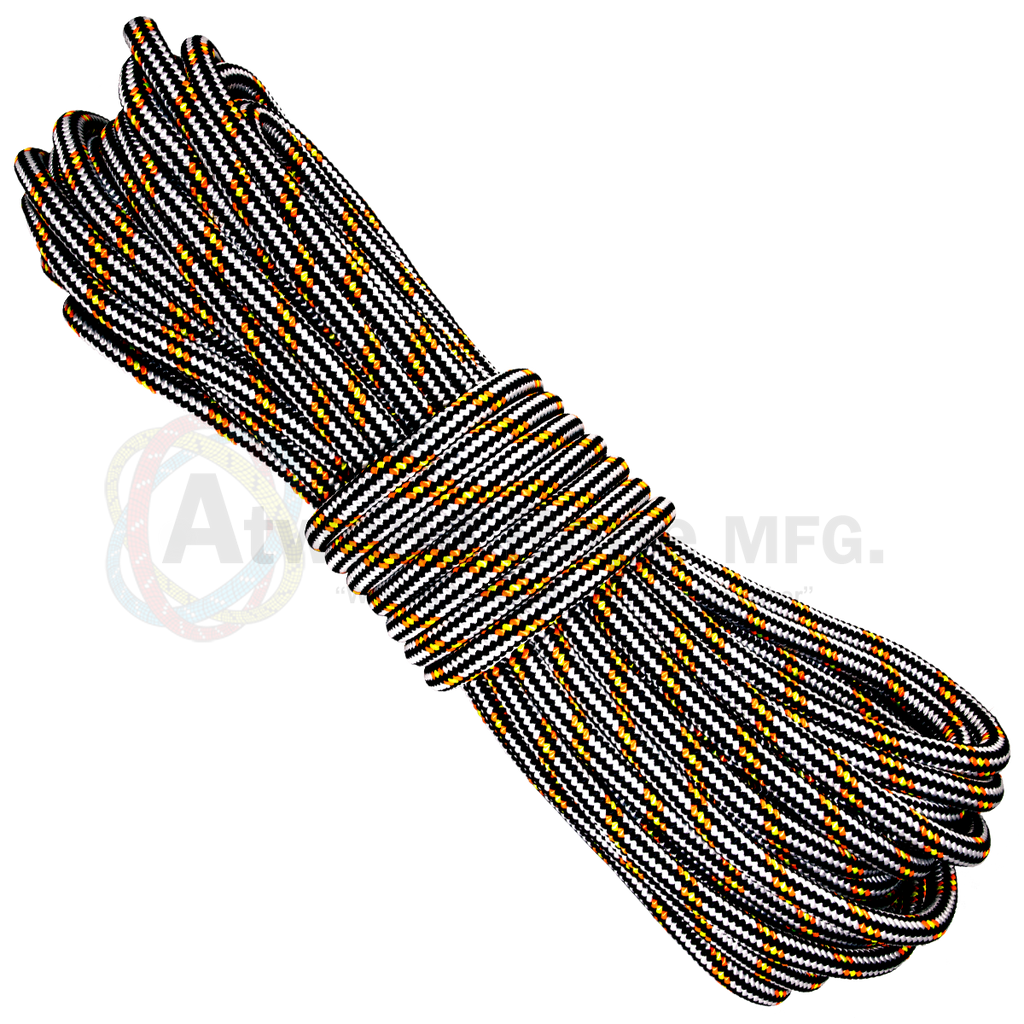 3/4 x 150ft Arborist Rope - White Black Neon Orange & Neon Yellow