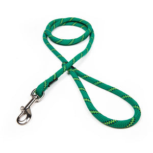 3/8 Green w/ Neon Yellow & Black Tracer Rope Leash