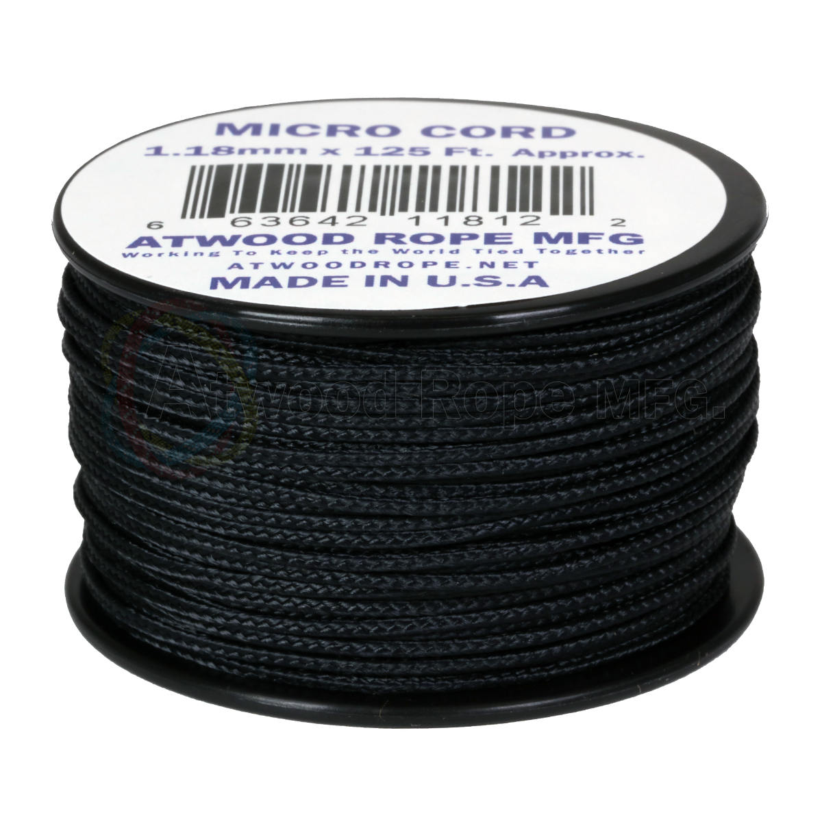 Micro Cord 1.18mm 125ft Nylon Rope Spool Made in the USA Glow in the Dark