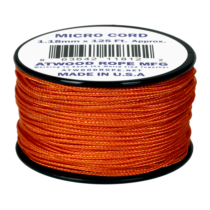 1.18mm Micro Cord - Burnt Orange