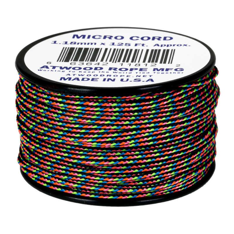 1.18mm Micro Cord - Dark Stripes