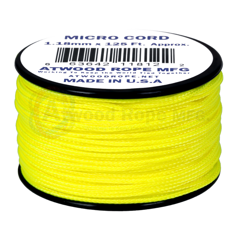 1.18mm Micro Cord - Neon Yellow