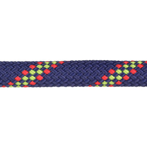 3/8 Navy w/ Neon Green & Red Tracer Rope Leash