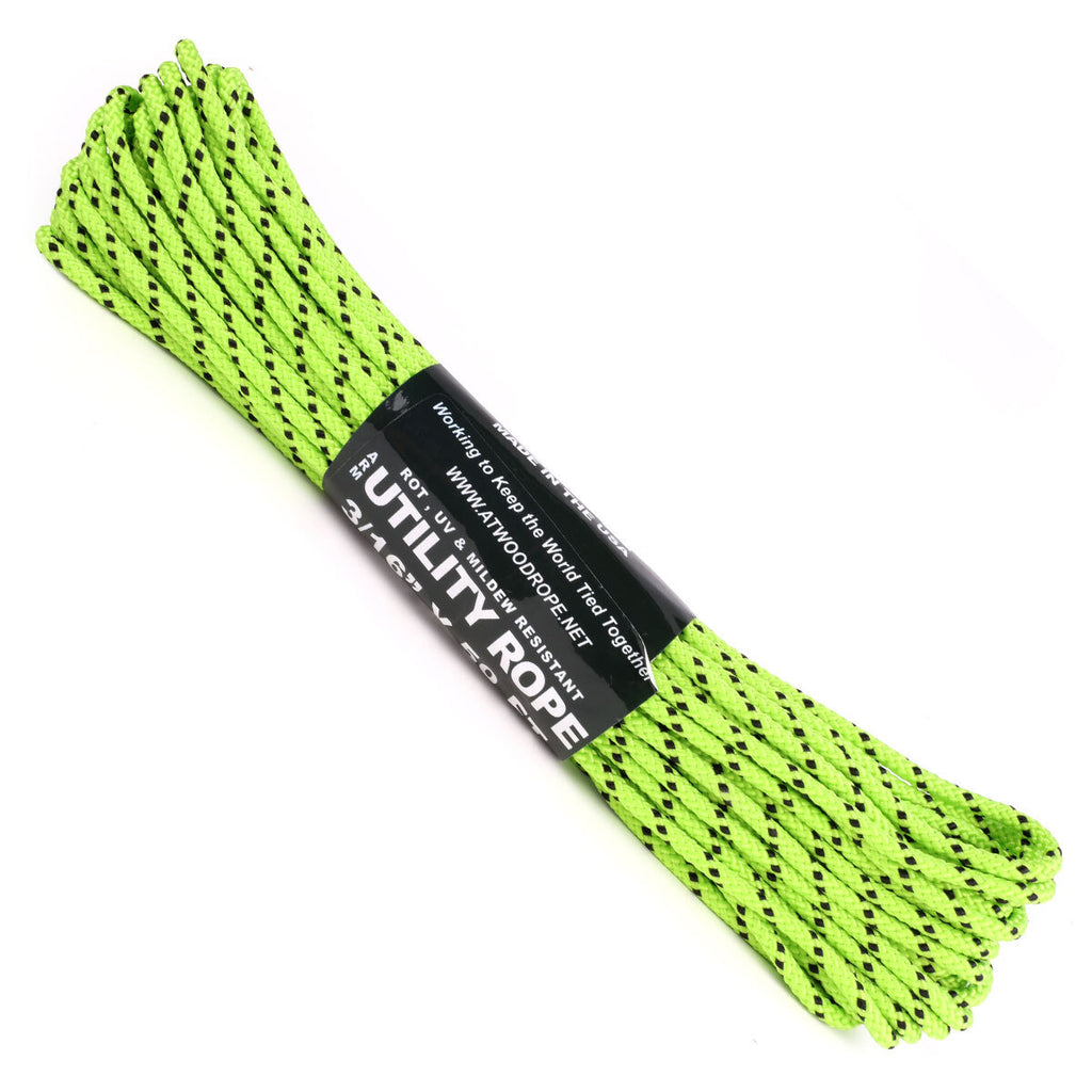 3/16 x 50ft - Neon Green w/ Black Tracer