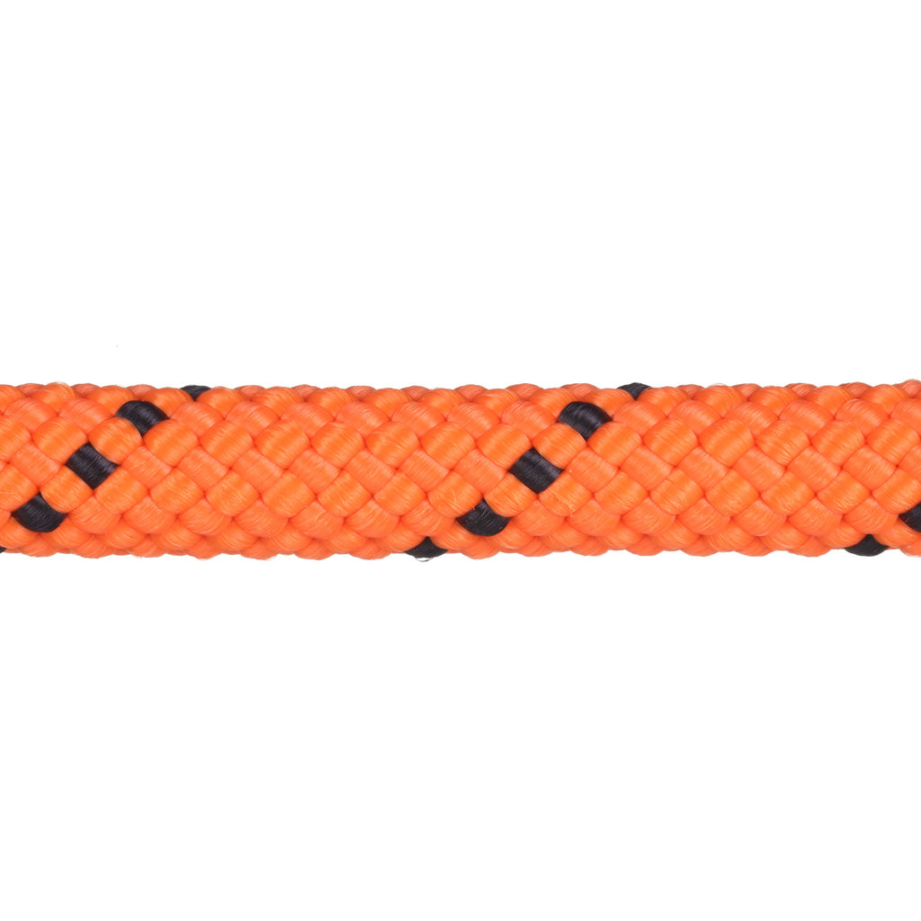 3/8 Neon Orange w/ Black Tracer Rope Leash