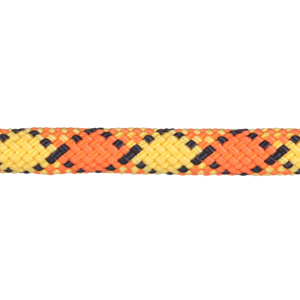 3/8 Yellow w/ Neon Orange & Black Rope Leash