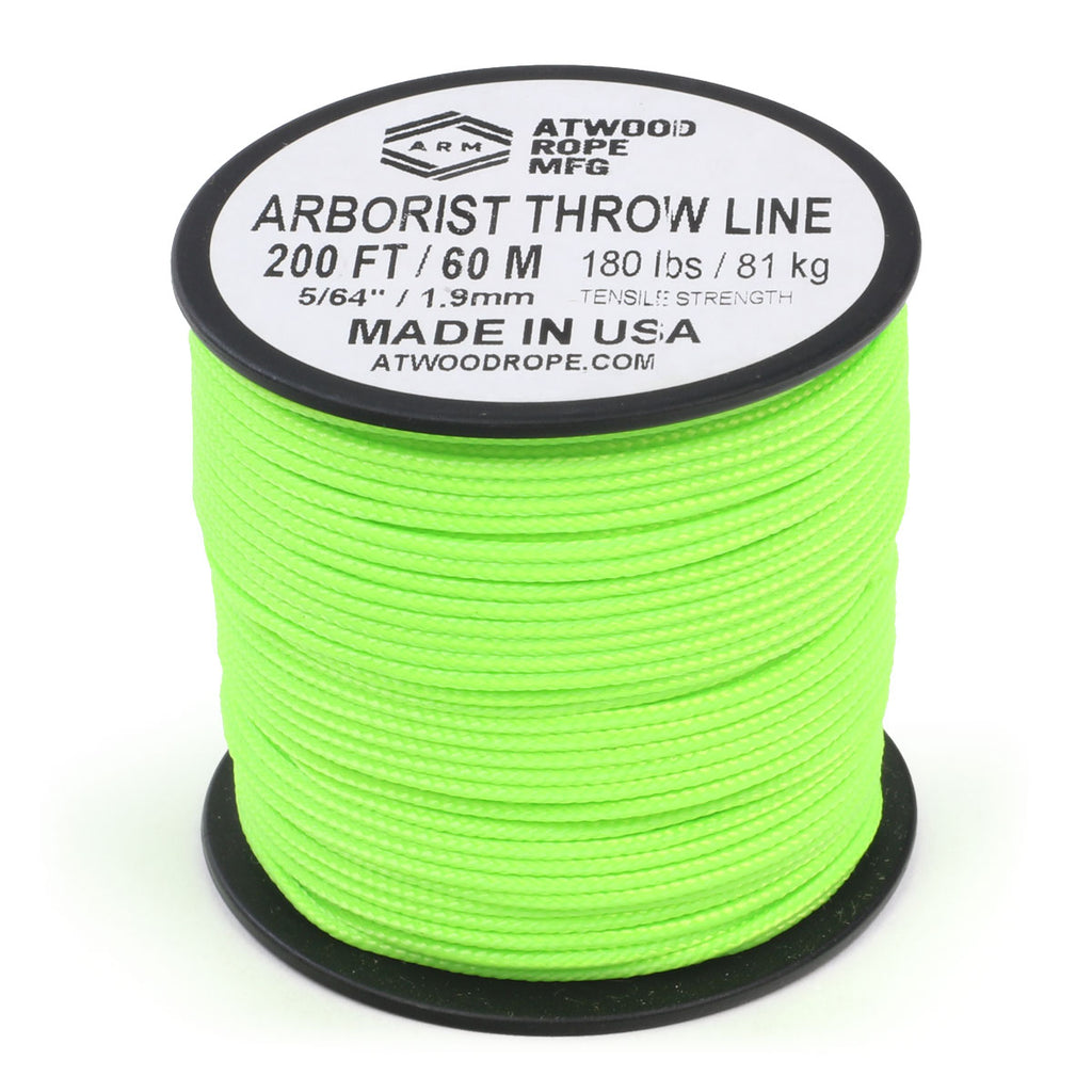 Arborist Throw Line - Neon Green