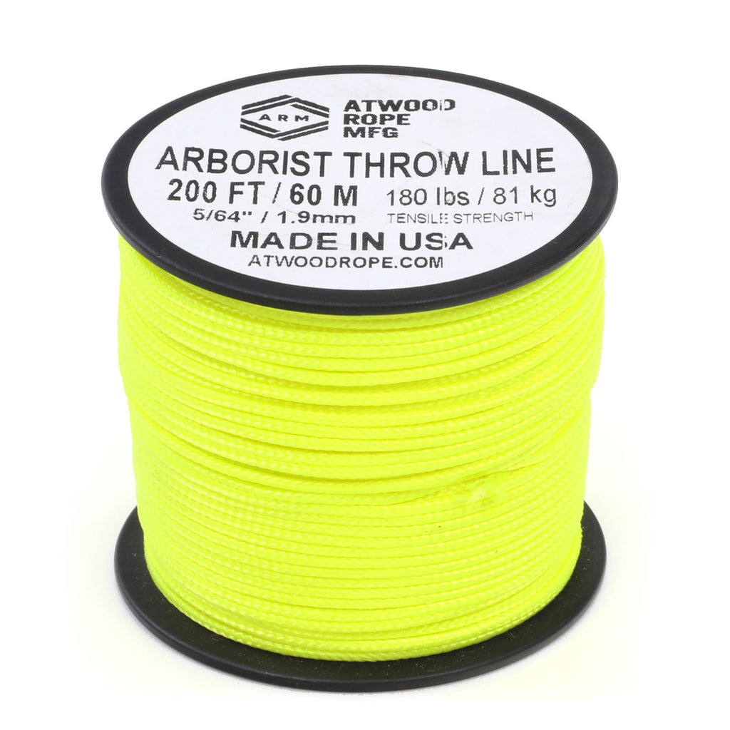 Arborist Throw Line - Neon Yellow