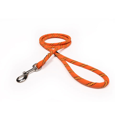 3/8 Neon Orange w/ Yellow & Black Tracer Rope Leash
