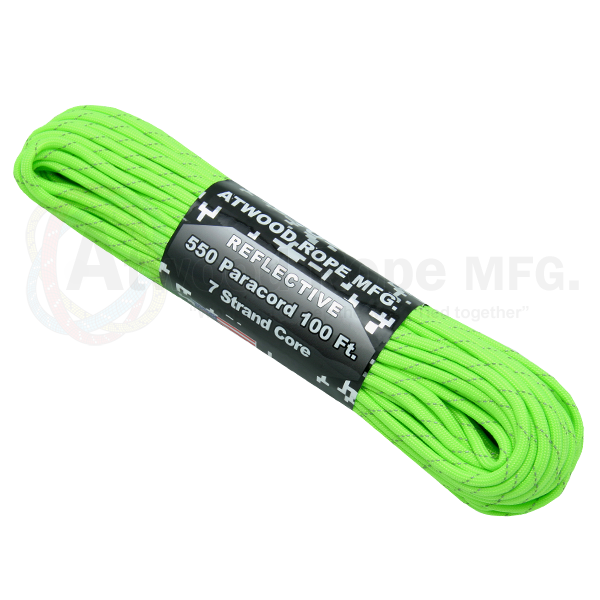 550 Paracord Reflective Neon Green