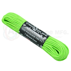 550 x 100ft Paracord Reflective Neon Green