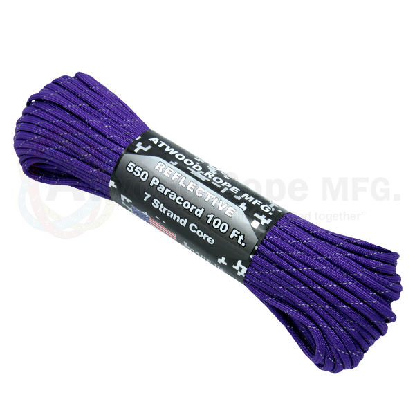 550 x 100ft Paracord Reflective Purple